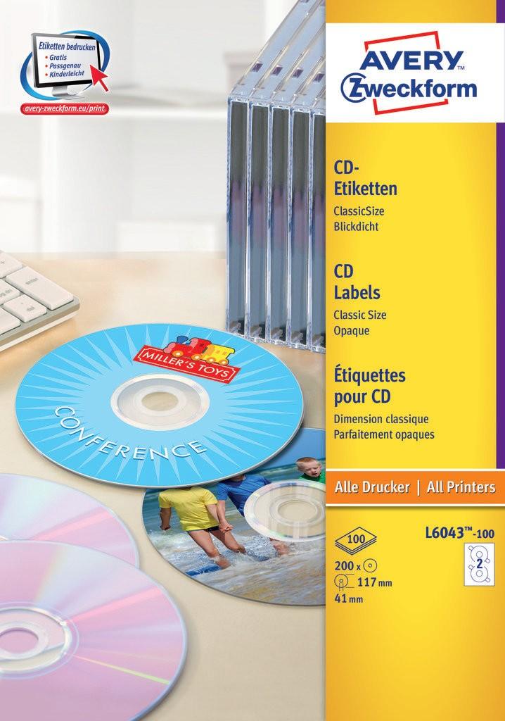 Cd Labels Classicsize L6043 100 Avery