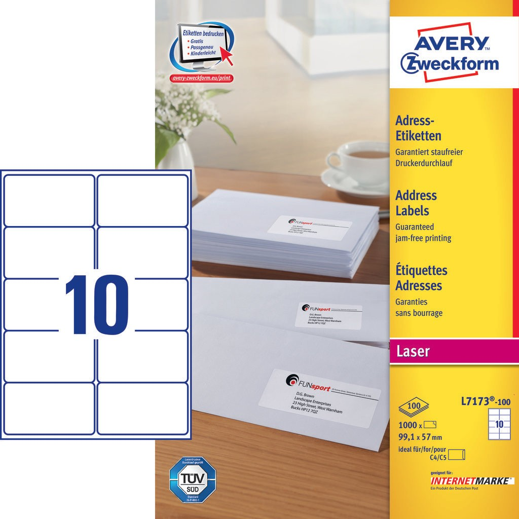 Address Labels L Avery - Avery brochure template