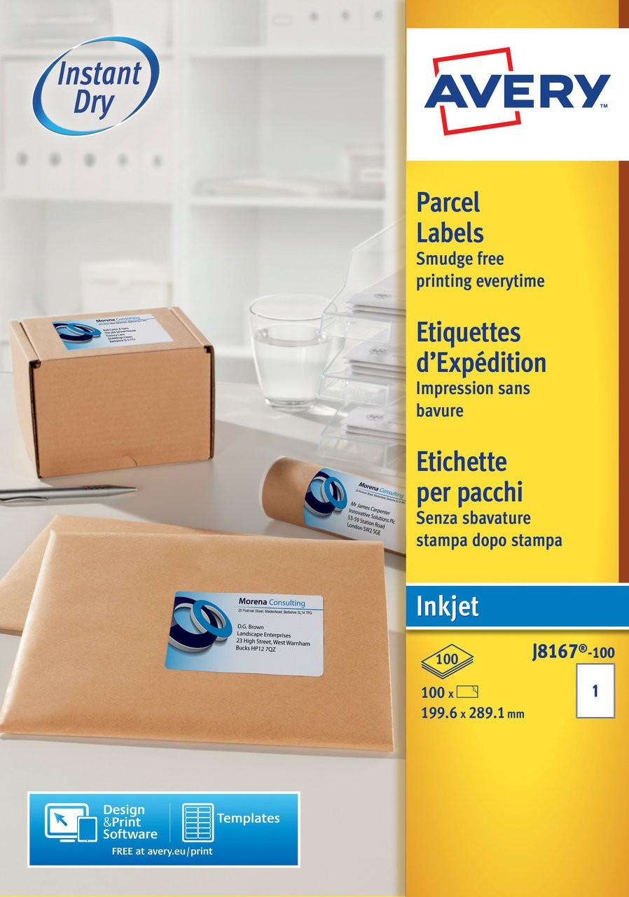 Parcel Labels   J8167-100   Avery