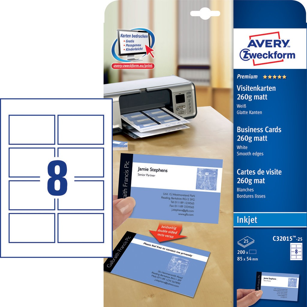 Premium Business Cards | C32015-25 | Avery