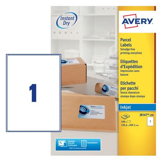 Parcel Labels J8167 100 Avery