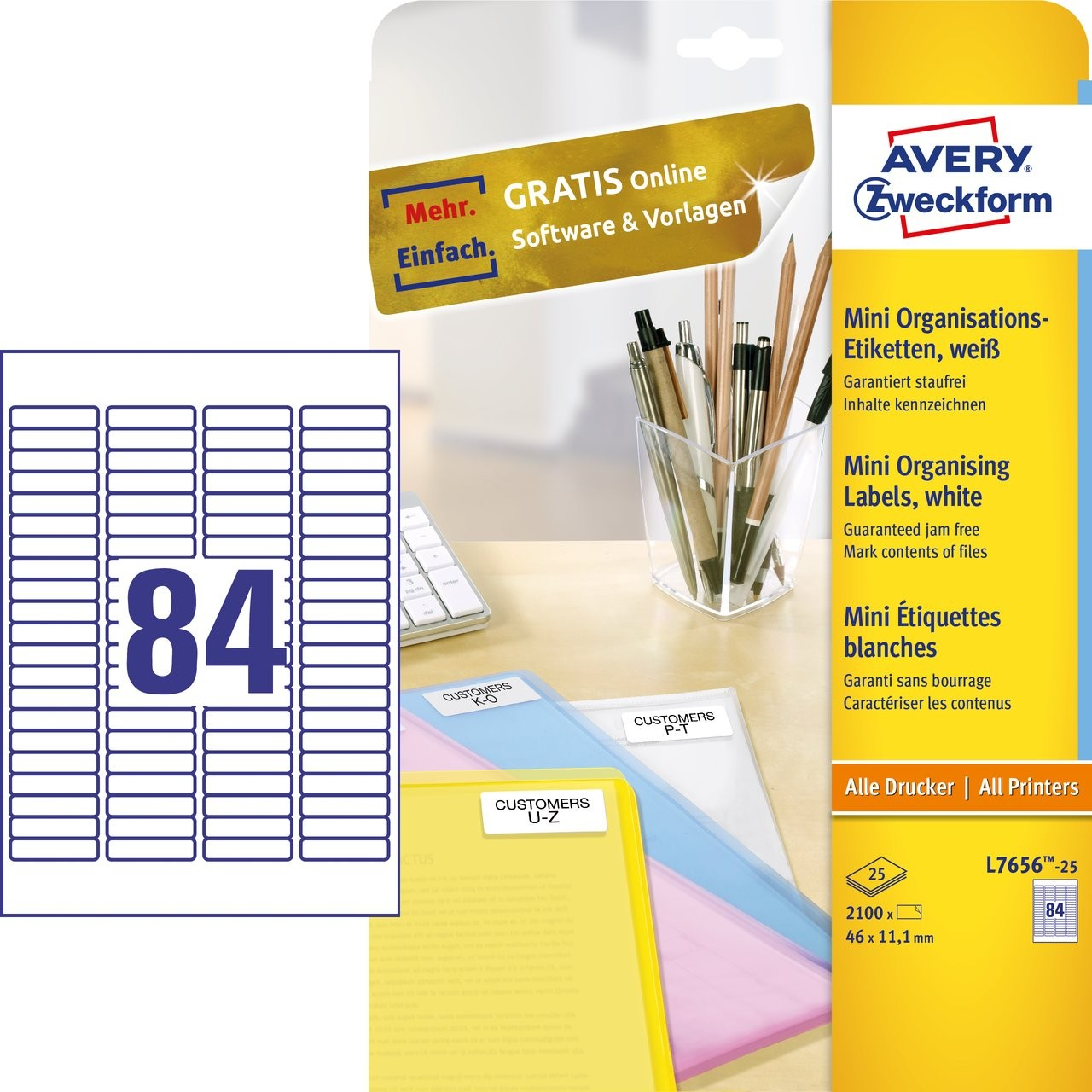Mini Organising Labels L7656 25 Avery