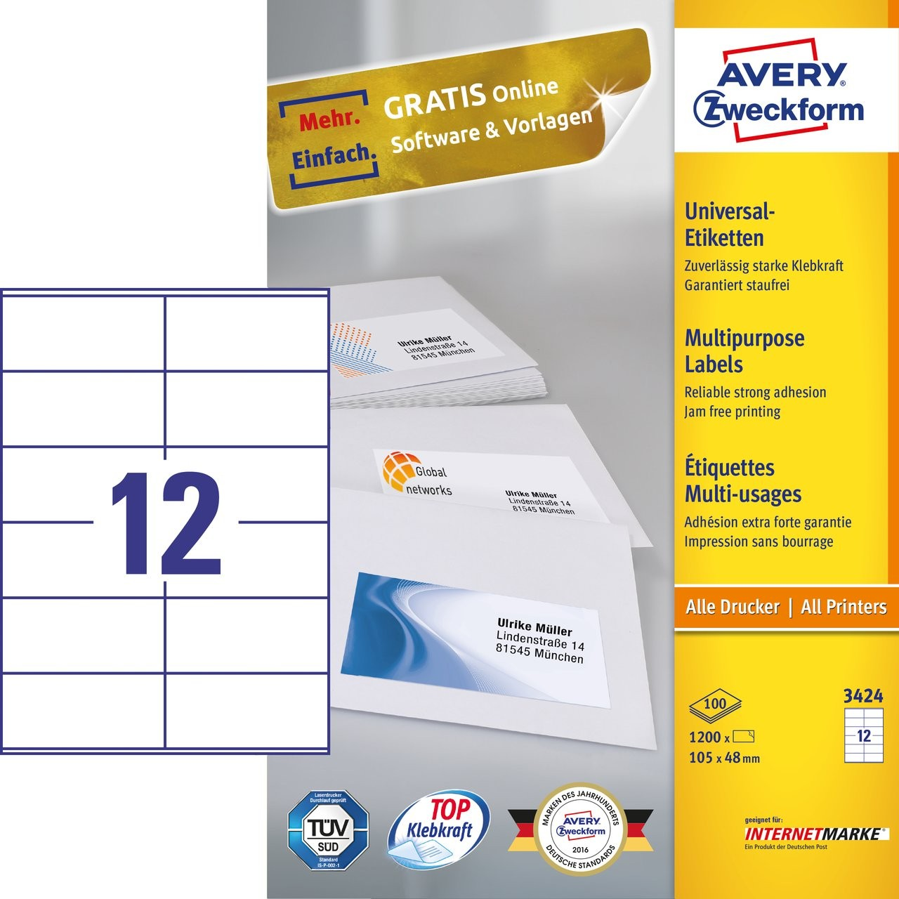 Multipurpose Generaluse Labels Avery - Avery brochure template