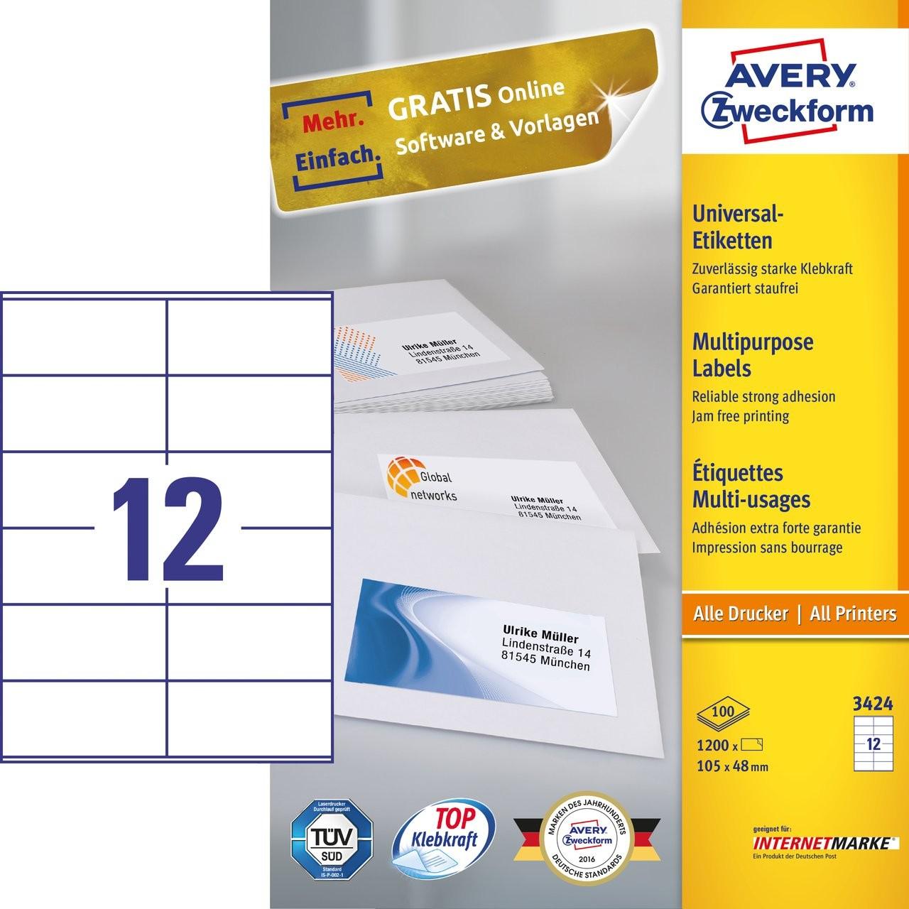 Multipurpose Generaluse Labels Avery - Copier labels template