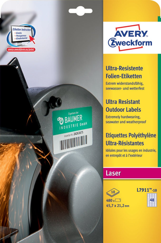 Ultra Resistant Outdoor Labels | L7911-10 | Avery