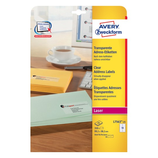 AVERY//Zweckform QuickPEEL ?tiquettes laser 99,1 x 38,1mm,