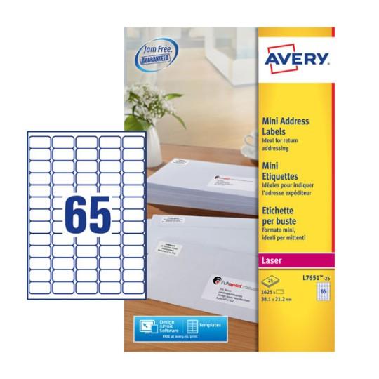 Mini Address Labels | L7651-25 | Avery