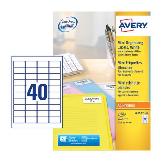 mini multipurpose labels l7654 100 avery